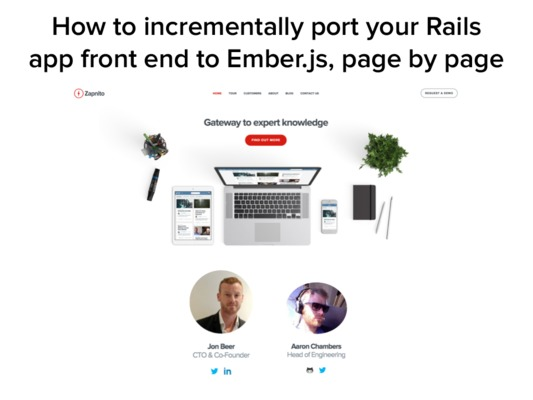 Ember talk: how to incrementally port your Rails app to Ember
