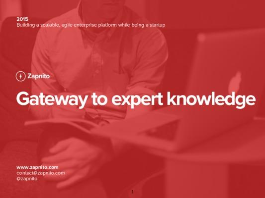Zapnito presentation to IBM on agile development