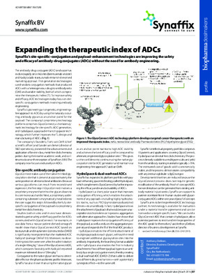 Expanding the therapeutic index of ADCs