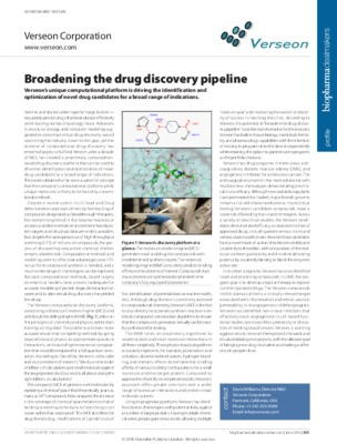 Broadening the drug discovery pipeline