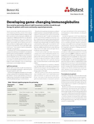 Developing game-changing immunoglobulins