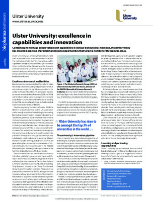 Ulster University: excellence in capabilities and innovation