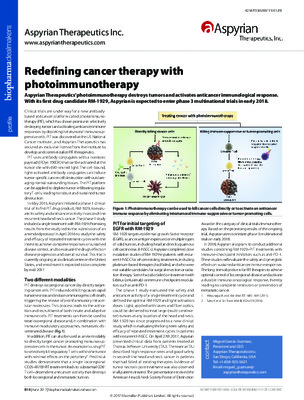 Redefining cancer therapy with photoimmunotherapy