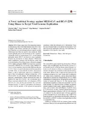 A Novel Antiviral Strategy against MERS-CoV and HCoV-229E Using Binase to Target Viral Genome Replication