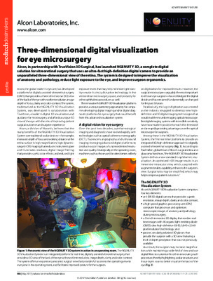 Three-dimensional digital visualization for eye microsurgery