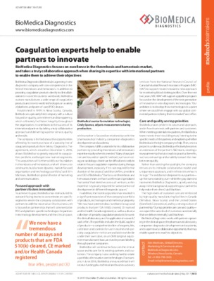 Coagulation experts help to enable partners to innovate