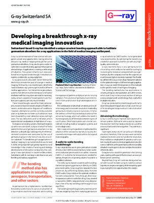 Developing a breakthrough x-ray medical imaging innovation