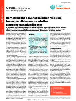 Harnessing the power of precision medicine to conquer Alzheimer's and other neurodegenerative diseases
