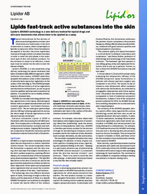Lipids fast-track active substances into the skin