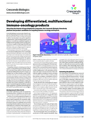 Developing differentiated, multifunctional immuno-oncology products