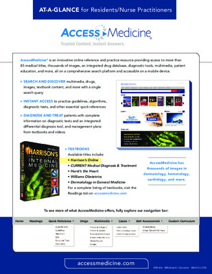 AccessMedicine - Resident/NP At-a-Glance Guide