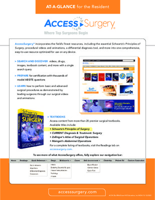 AccessSurgery - Resident At-a-Glance Guide