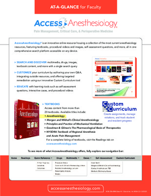 AccessAnesthesiology - Faculty At-a-Glance Guide