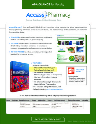 AccessPharmacy - Faculty At-a-Glance Guide