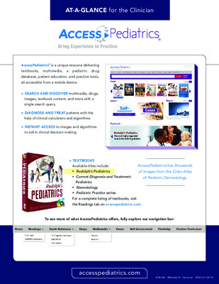 AccessPediatrics - Clinician At-a-Glance Guide