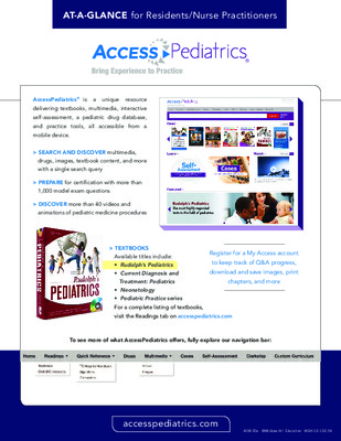 AccessPediatrics - Resident/NP At-a-Glance Guide