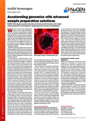 Accelerating genomics with advanced sample preparation solutions