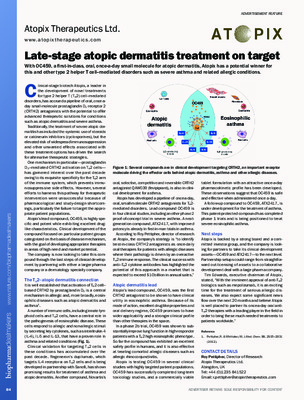 Late-stage atopic dermatitis treatment on target